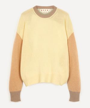 Colour Block Cashmere Crewneck Sweater
