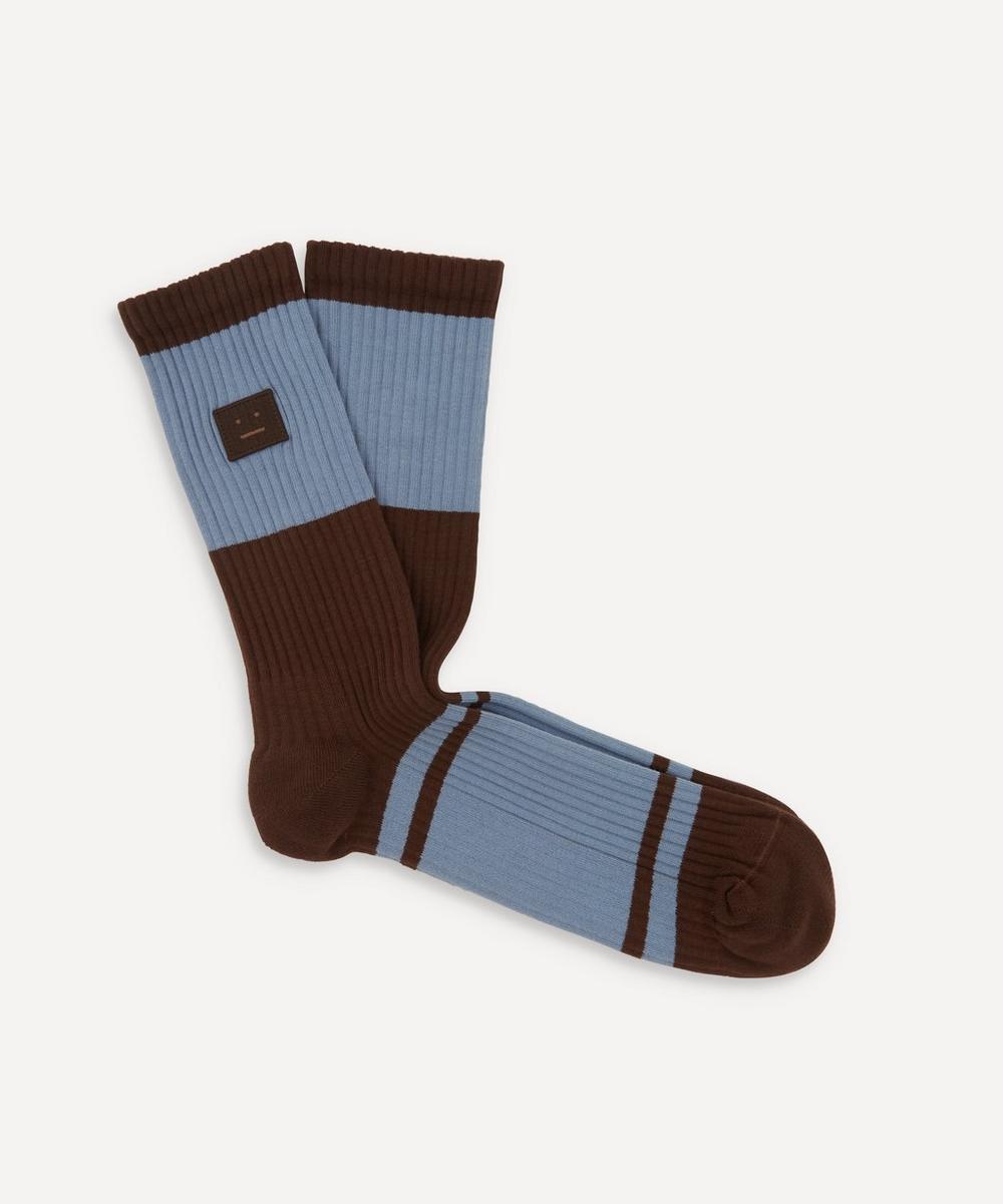 Acne Studios - Face Patch Striped Socks