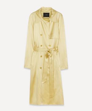 Cepio Silk-Satin Trench Coat