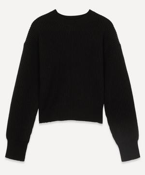 Crew-Neck Rib Wool Jumper