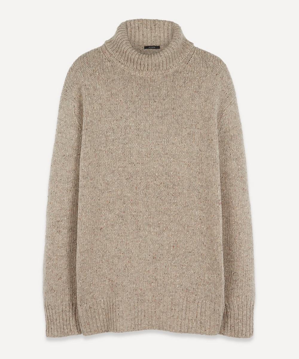 Joseph - High Neck Tweed Knit Jumper