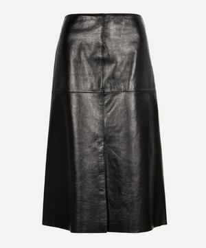 Sidena Leather A-Line Midi-Skirt