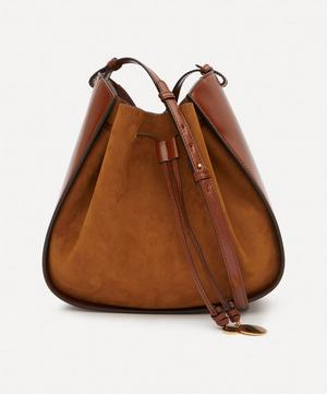 Faux Leather Drawstring Bucket Bag