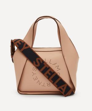 Mini Stella Logo Faux Leather Cross-Body Bag