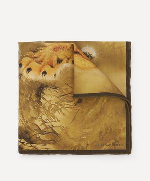 Tiger Print Silk Pocket Square