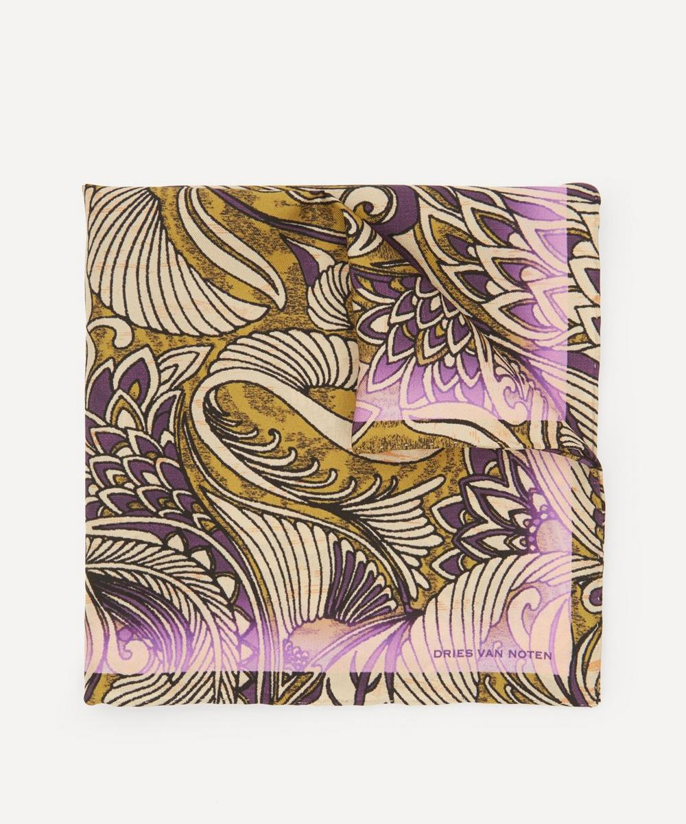 Dries Van Noten - Psychedelic Print Silk Pocket Square