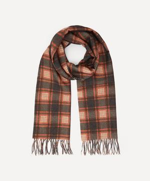 Double-Sided Check Wool-Blend Scarf