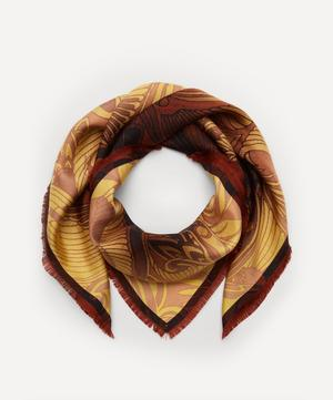 Psychedelic Print Silk Scarf