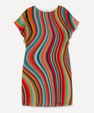 Swirl Print Short-Sleeve Dress