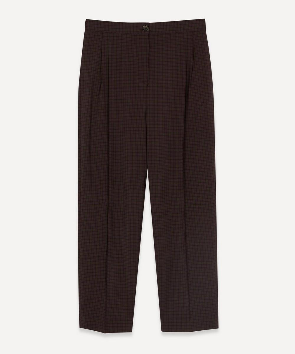 PS Paul Smith - Check High-Waist Trousers