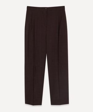 Check High-Waist Trousers