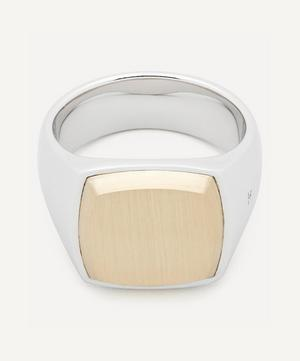 Cushion Gold Top Ring
