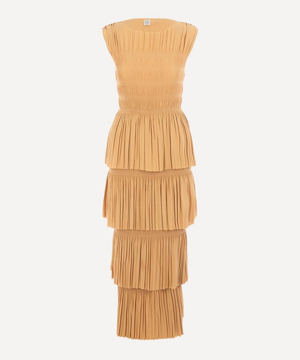 Totême - Aramon Sleeveless Ruched Dress