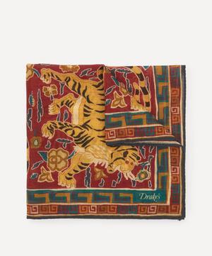Archival Jumbo Tiger Print Pocket Square
