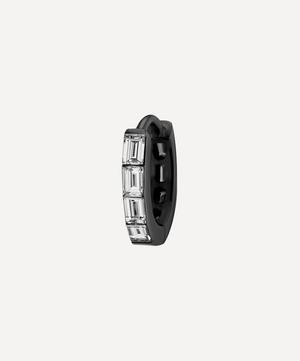 6.5mm Invisible Set Baguette Diamond Eternity Hoop Earring