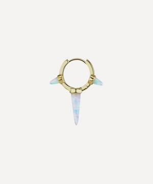 9.5mm Triple Long Opal Spike Hoop Earring