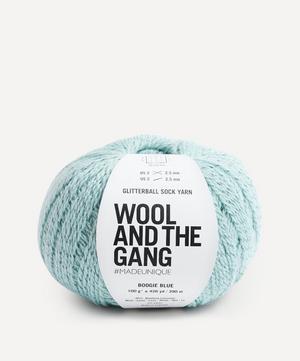 Glitterball Sock Yarn in Boogie Blue