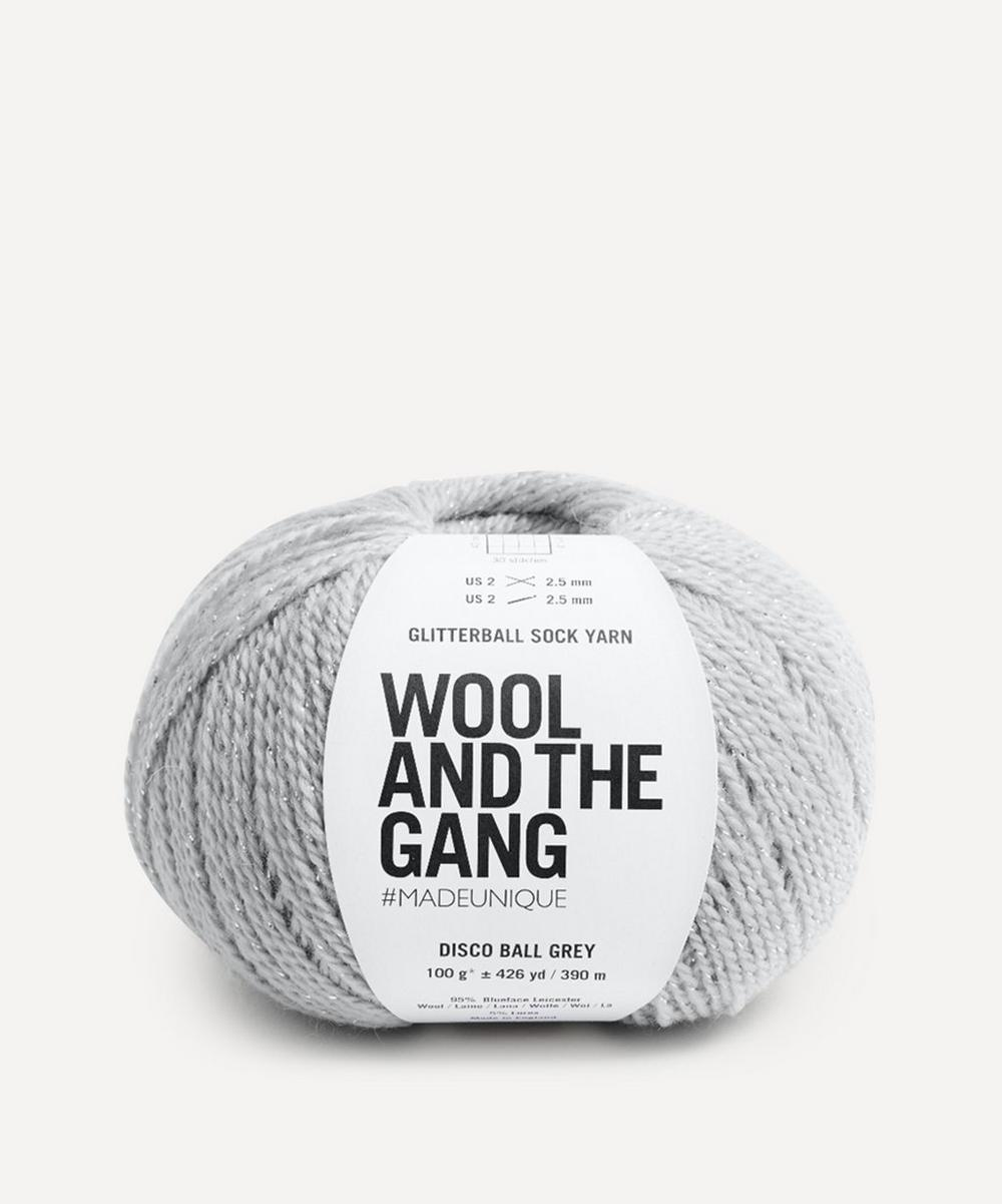 Wool and the Gang - Glitterball Sock Yarn in Disco Ball Grey