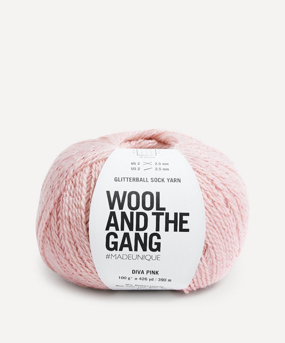 Wool and the Gang - Glitterball Sock Yarn in Diva Pink