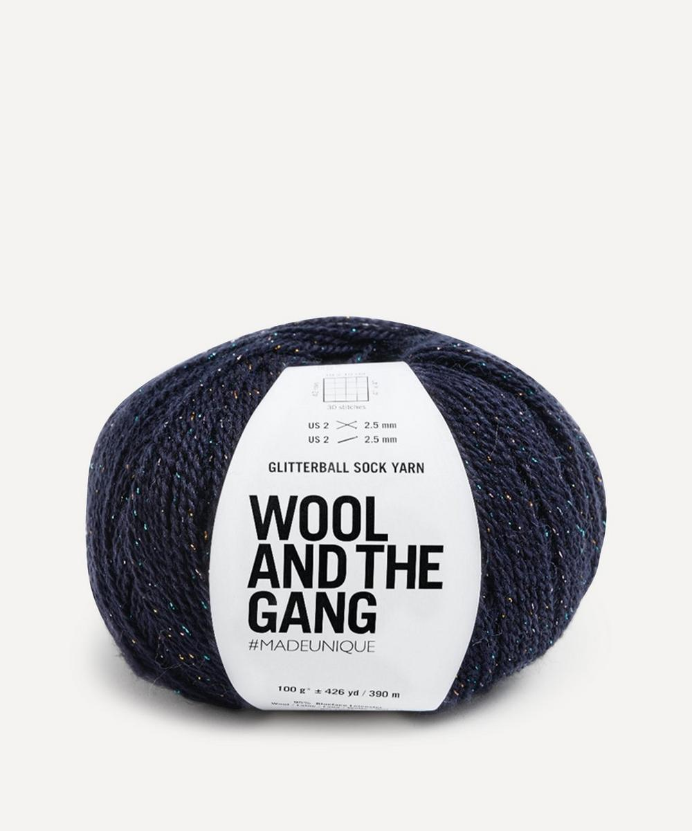 Wool and the Gang - Glitterball Sock Yarn in Night Fever Navy