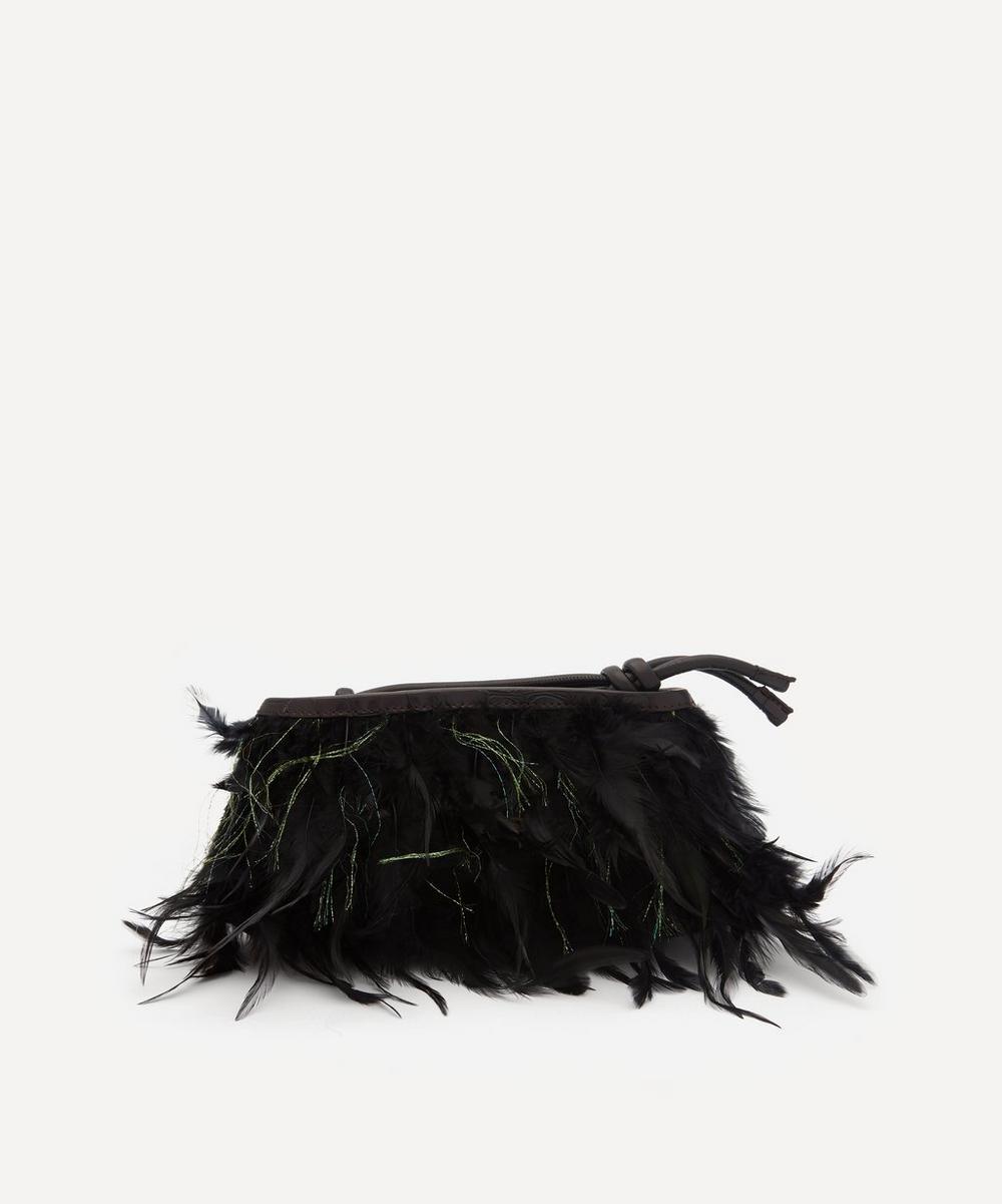 Dries Van Noten - Feather Clutch Bag