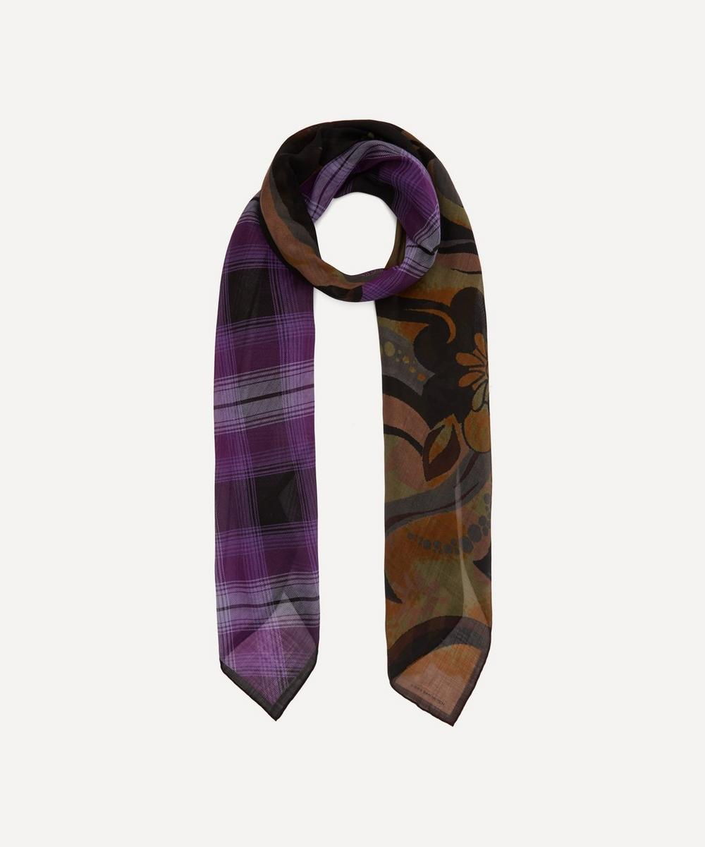 Dries Van Noten - Check and Floral Print Wool Scarf