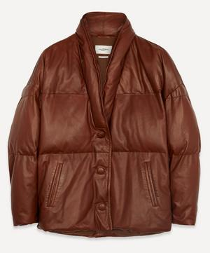 Carterae Leather Puffer Jacket