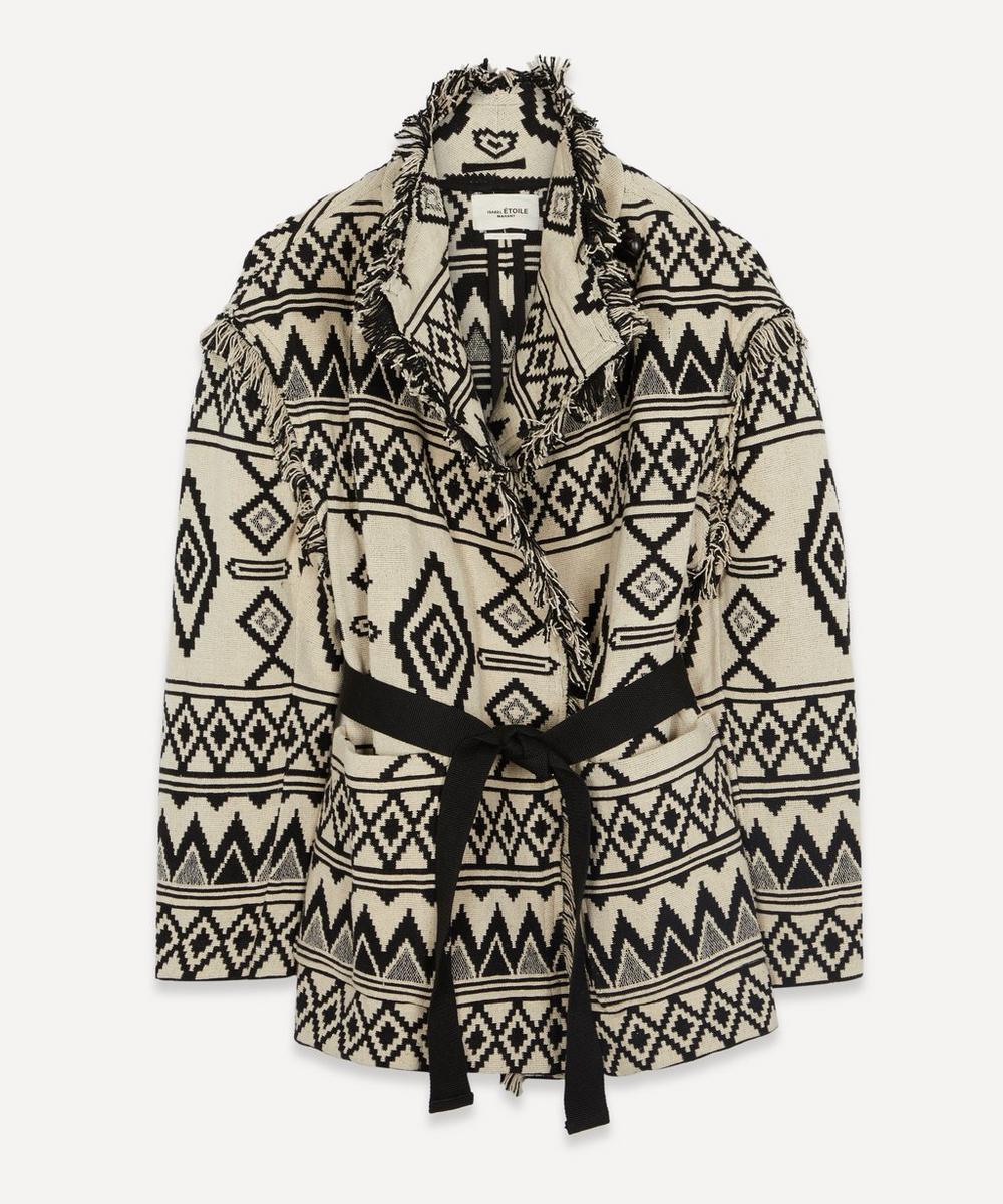 Isabel Marant Étoile - Josiali Cotton-Jacquard Belted Jacket