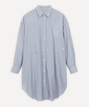 Seen Striped Cotton Wrap-Dress