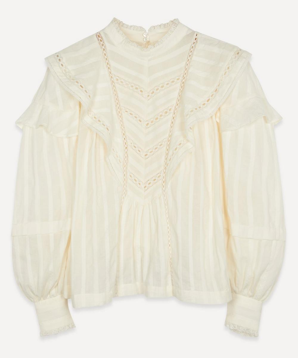 Isabel Marant Étoile - Reign Lace-Trim Cotton Top