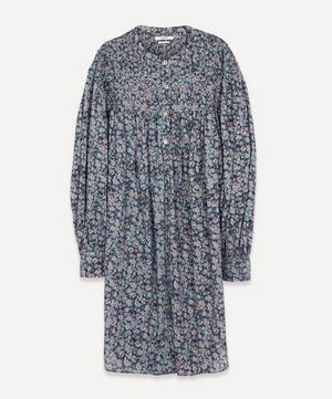 Plana Floral-Print Cotton Shirt Dress
