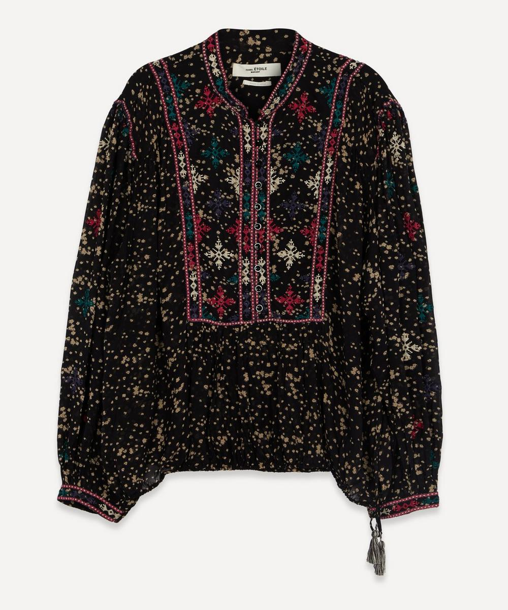 Isabel Marant Étoile - Ivayo Embroidered Printed Top