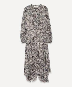 Lizete Printed Georgette Midi-Dress