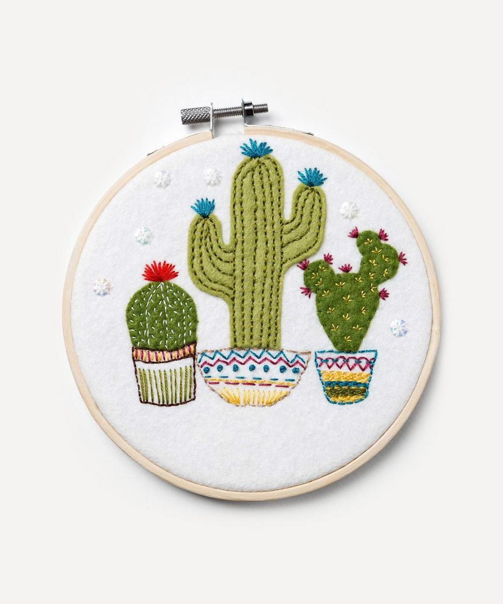 Corinne Lapierre - Felt Cactus Appliqué Hoop Kit