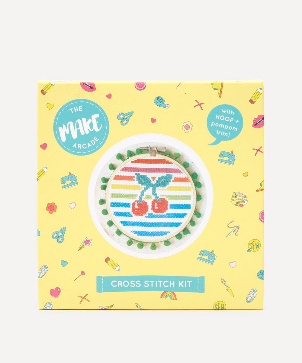 The Make Arcade - Cherry Stripe Midi Cross Stitch Kit