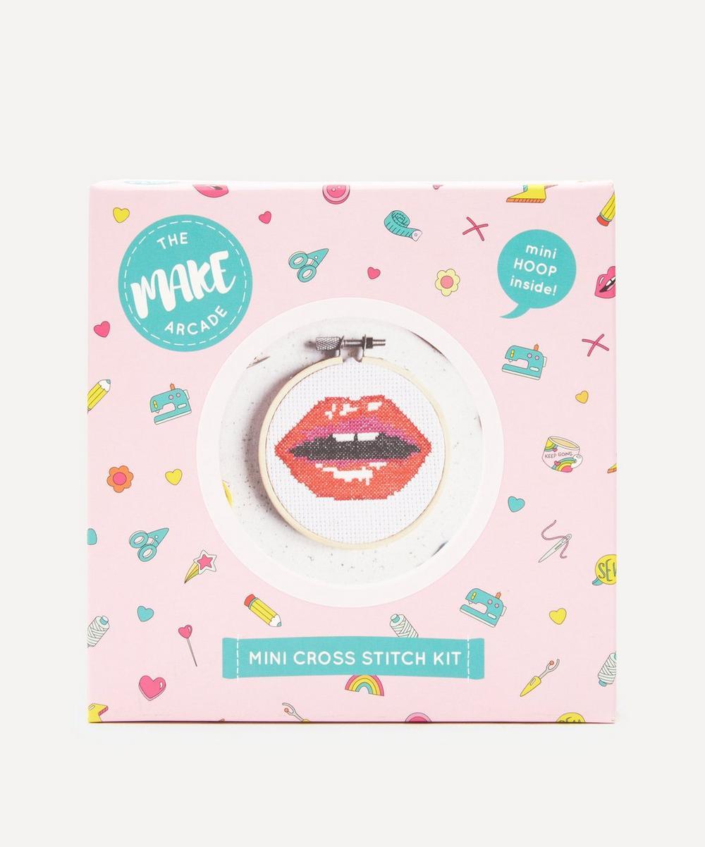 The Make Arcade - Read My Lips Mini Cross Stitch Kit