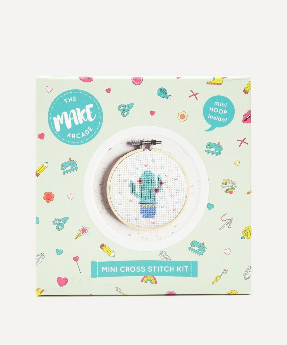 The Make Arcade - Cute Cactus Mini Cross Stitch Kit