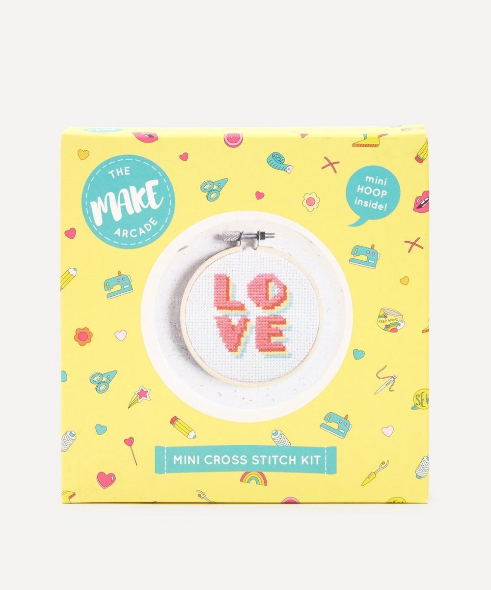 The Make Arcade - Summer of Love Mini Cross Stitch Kit