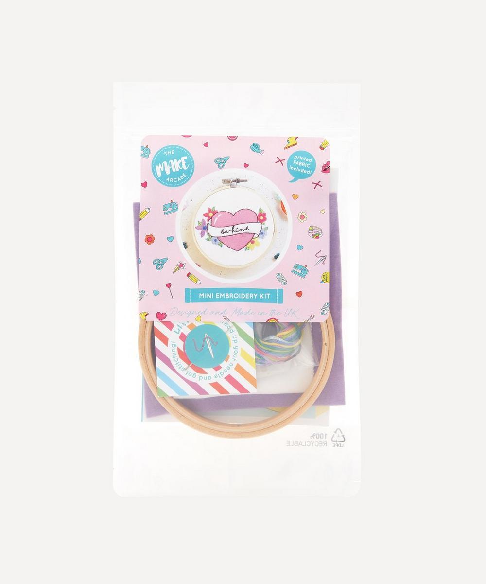 The Make Arcade - Be Kind Mini Embroidery Kit