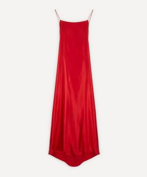 Meredith Silk-Satin Slip-Dress