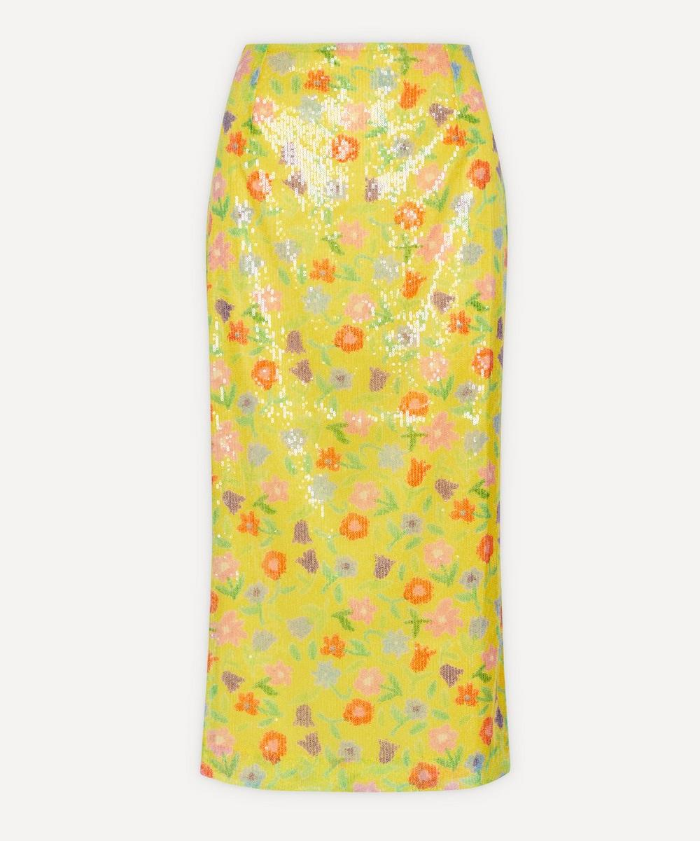Bernadette - Roxane Sequin Floral Skirt