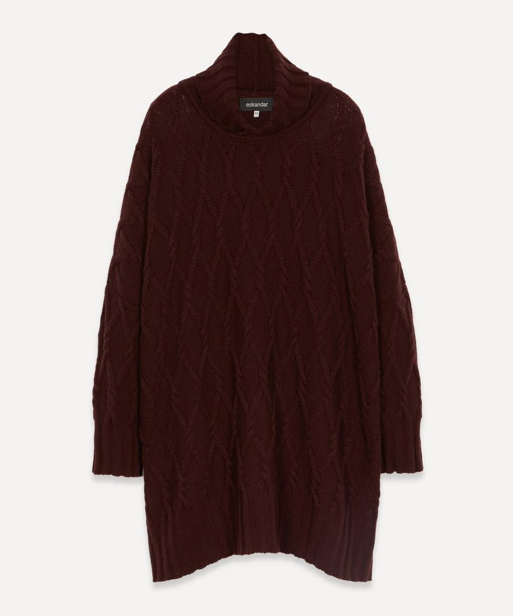 Eskandar - Trellis Cable Cashmere Roll-Neck Jumper