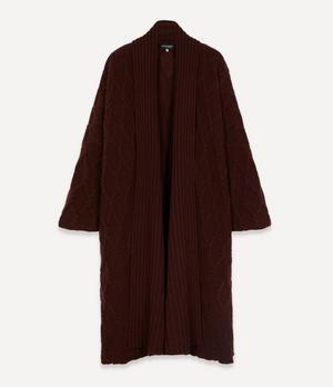 Trellis Knit Cardigan Coat