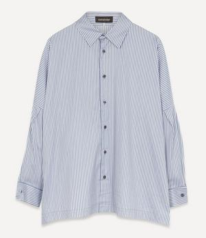 Twill Stripe Sloped Shoulder Shirt