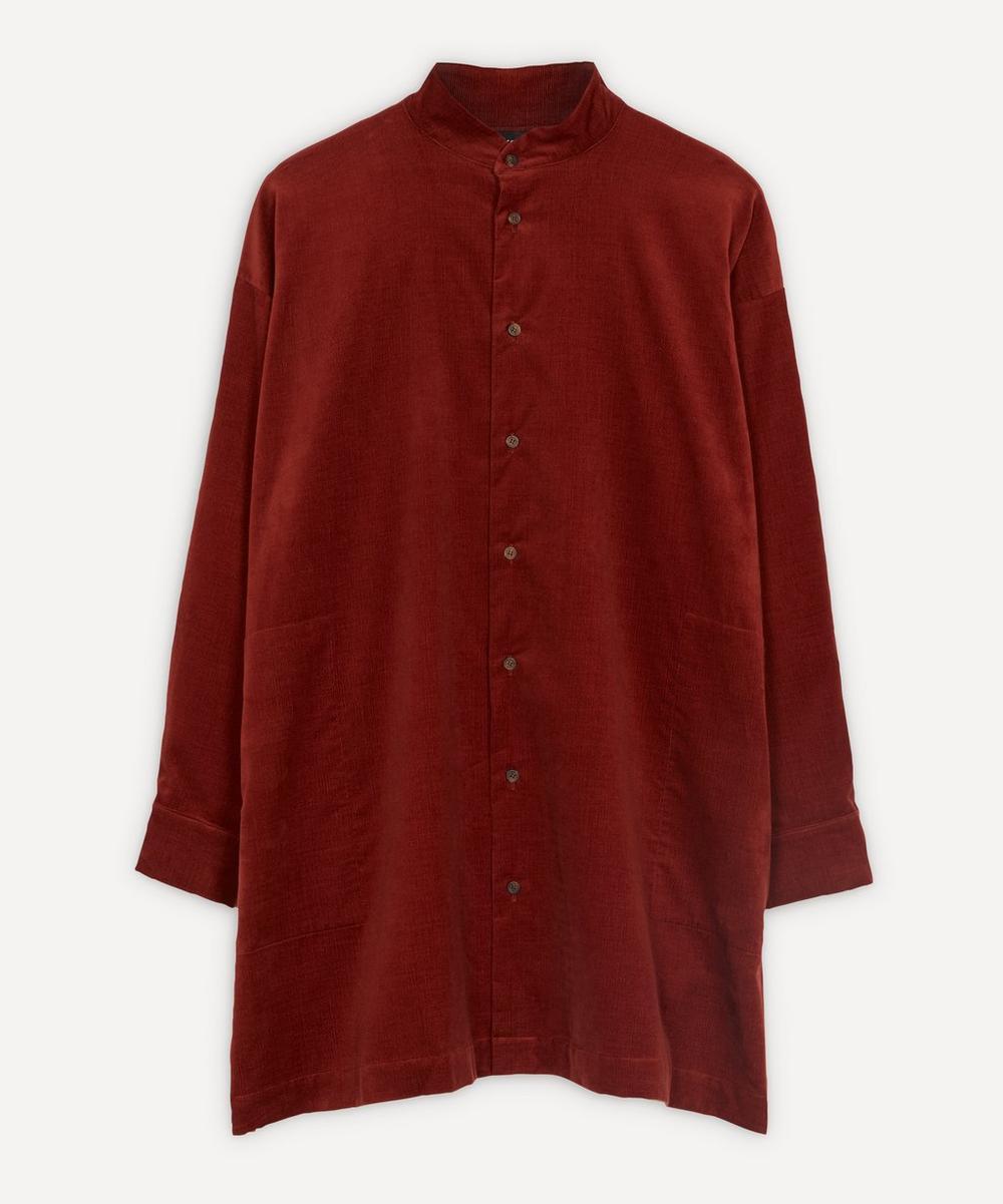 Eskandar - Fine Corduroy A-Line Shirt