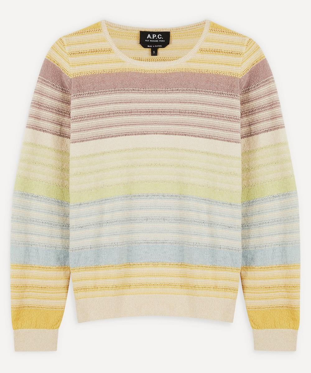 A.P.C. - Wave Striped Crew-Neck Knit