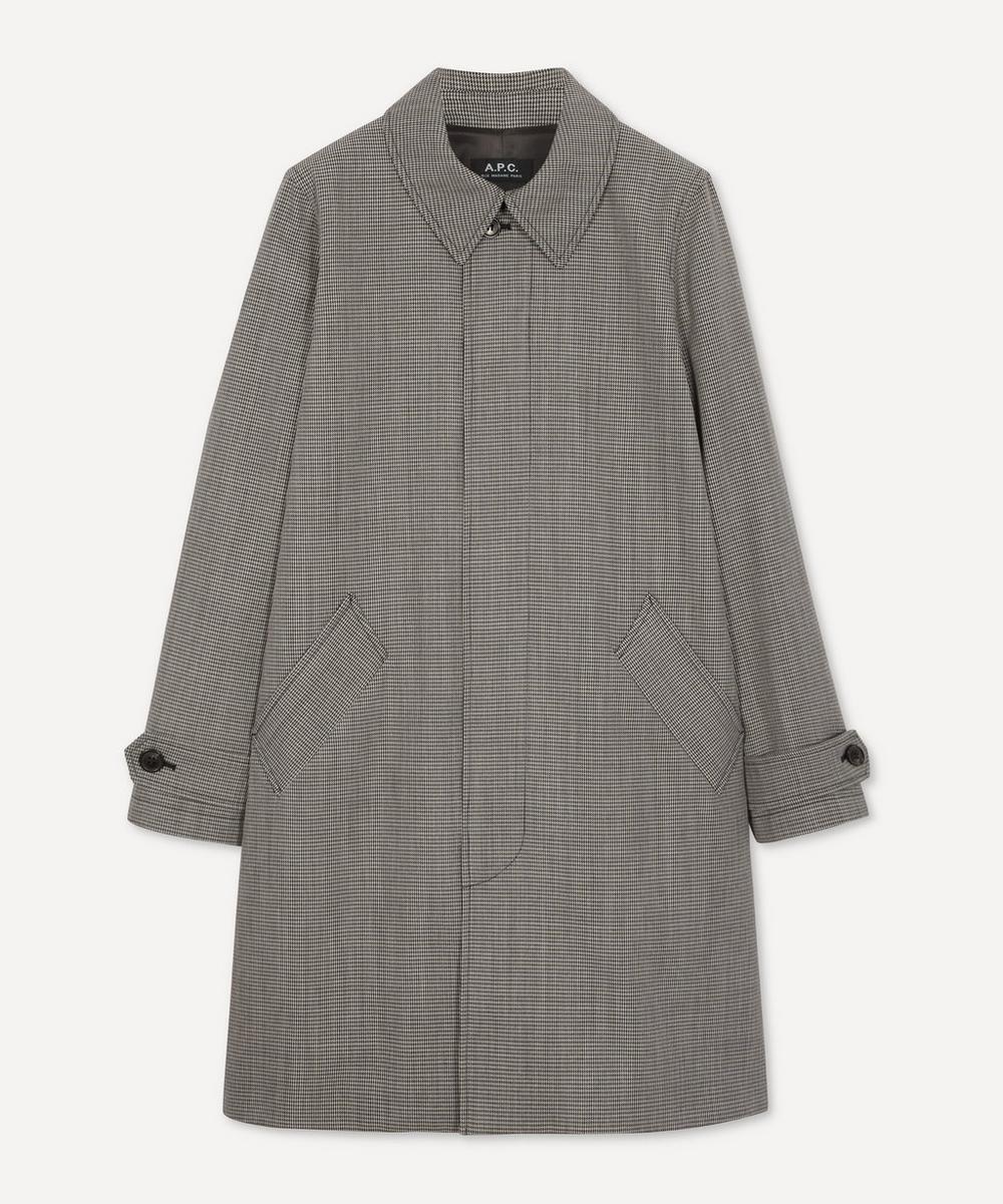 A.P.C. - Dinard Checked Mac Coat