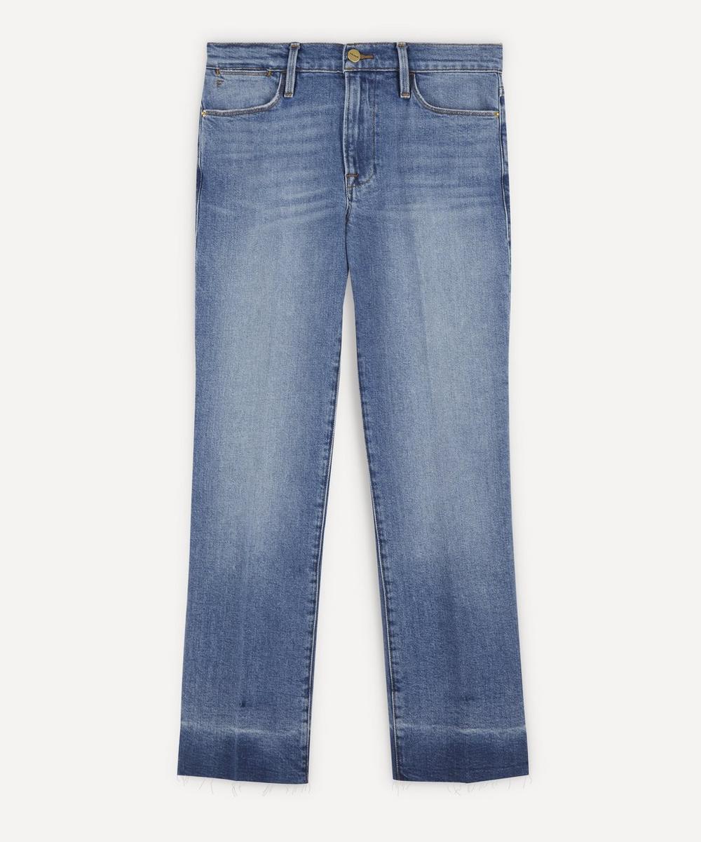 Frame - Le High Straight Raw-Hem Jeans