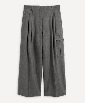 Runway Cropped Pleated Trousers