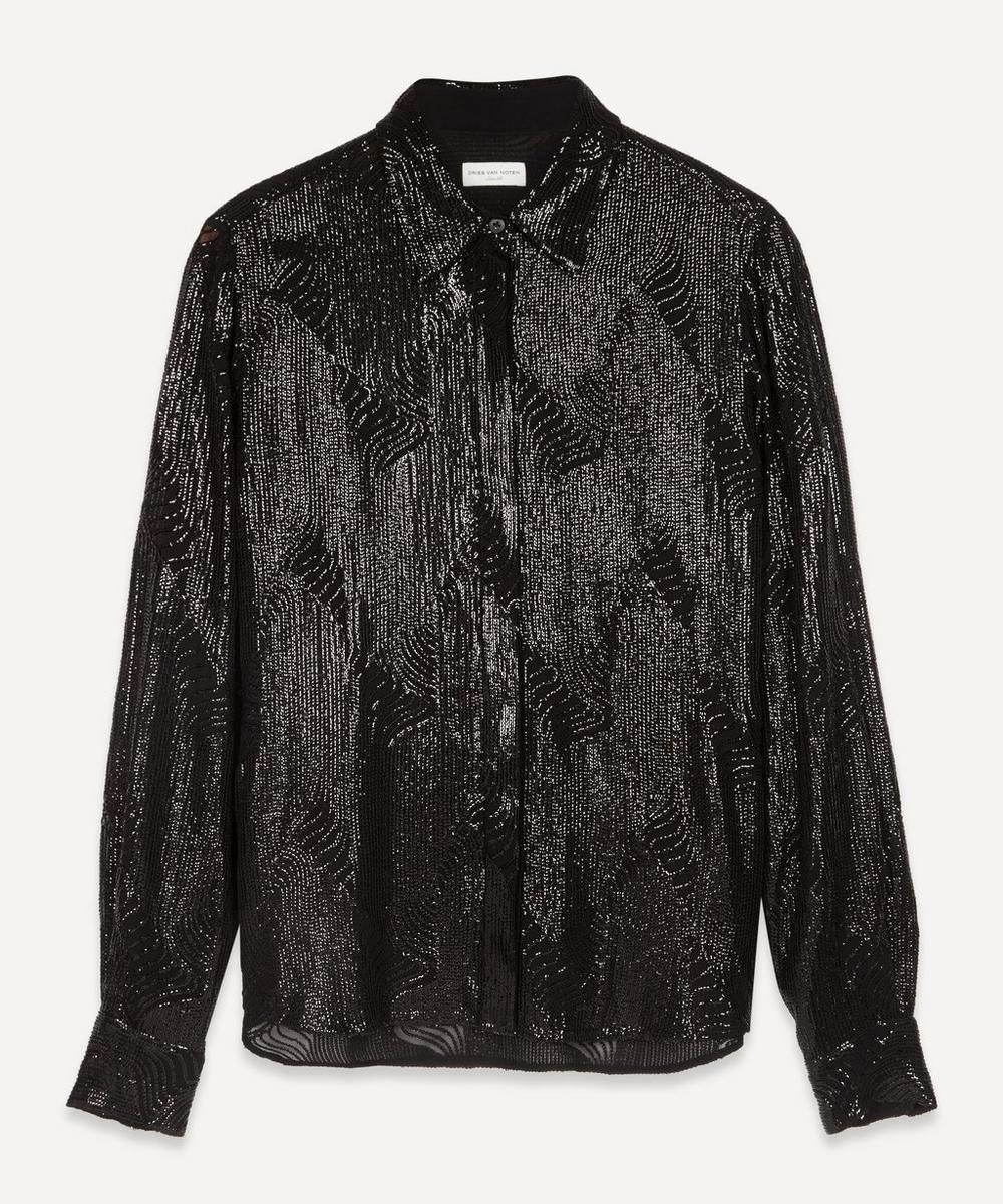 Dries Van Noten - Lurex Waves Shirt